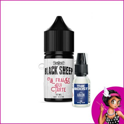 Eliquide Fraise qui Tarte 22ml Black Sheep | Green Vapes